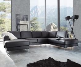 DELIFE Designer-Wohnlandschaft Silas 300x200 Schwarz Ottomane Rechts, Wohnlandschaften, Designer Sofa