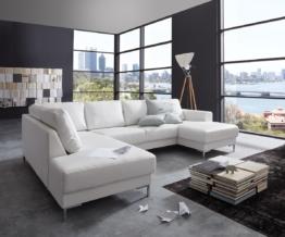 DELIFE Designer-Wohnlandschaft Silas 300x200 Weiss Ottomane Links, Wohnlandschaften, Designer Sofa