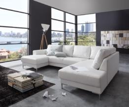 DELIFE Designer-Wohnlandschaft Silas 300x200 Weiss Ottomane Rechts, Wohnlandschaften, Designer Sofa