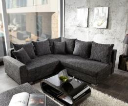 DELIFE Ecksofa Lavello 210x210 cm Schwarz Sofa mit Hocker, Ecksofas