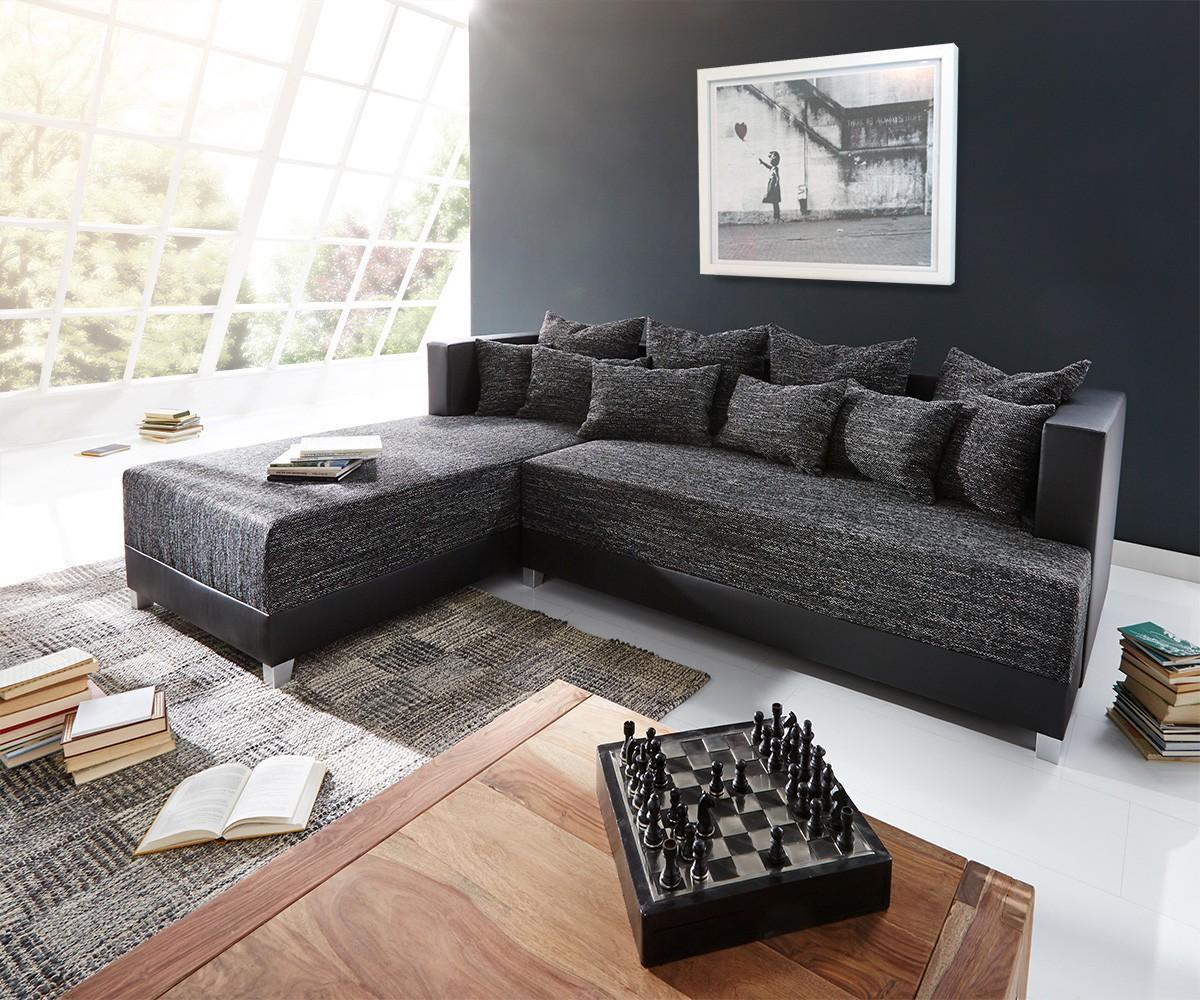 delife ecksofa megara 276x204 schwarz inklusive schlaffunktion ecksofas m bel24 online. Black Bedroom Furniture Sets. Home Design Ideas
