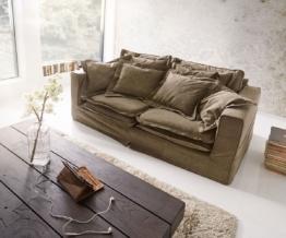 DELIFE Hussensofa Noelia 200x110cm Braun Couch mit Kissen, Big Sofas