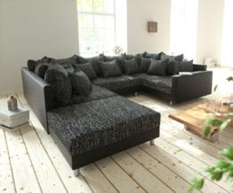 DELIFE Wohnlandschaft Clovis Schwarz Modulsofa Hocker Armlehne, Design Wohnlandschaften, Couch Loft, Modulsofa, modular