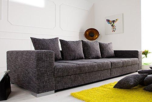 design xxl sofa big sofa island in grau charcoal strukturstoff inkl kissen. Black Bedroom Furniture Sets. Home Design Ideas
