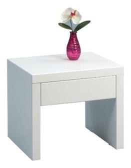 HomeTrends4You 517050 Beistelltisch, 45 x 40 x 38 cm, weiß Hochglanz -