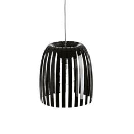 Koziol 1930526 Hängelampe - Pendelleuchte - Josephine, Plastik, schwarz, 30.5 x 30.5 x 33.7 cm -