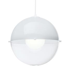 koziol Pendelleuchte Orion, Kunststoff, weiß mit transparent klar, 31,5 x 31,5 x 30,5 cm -