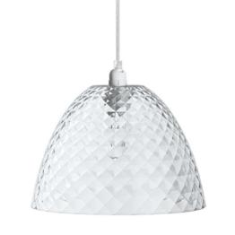 koziol Pendelleuchte Stella S , Kunststoff, transparent klar, 25,5 x 25,5 x 17,5 cm -