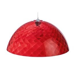 koziol Pendelleuchte  Stella XL,  Kunststoff, transparent rot, 66,90 x 66,90 x 29,5 cm -