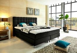 Luxus Boxspringbett 180x200 H3 inkl. Topper dunkelgrau, Bonellfedermatratze - Premiumklasse für 5 Sterne Hotels - günstig direkt vom Importeur -