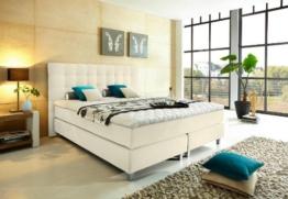"""Modell """"Rockstar"""" von WELCON: Luxus Boxspringbett 180x200 Härtegrad H3 in beige inkl. Topper - Premiumklasse für 5 Sterne Hotels - günstig direkt vom Importeur -"""