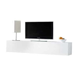 Moderner Design CUBE weiß Hochglanz Regal Wandregal TV Board made in Italy Hängeschrank -