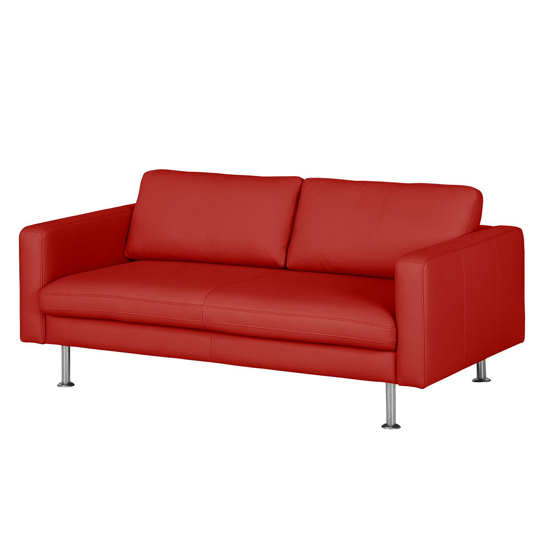 sofa bivona ii 2 sitzer echtleder rot. Black Bedroom Furniture Sets. Home Design Ideas