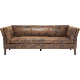 Sofa Canapee 3-Sitzer Vintage Eco