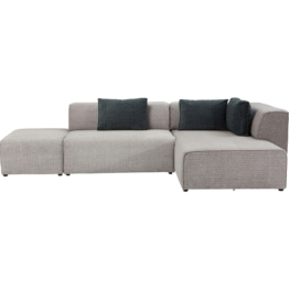Sofa Infinity Soft Ottomane Grau Rechts