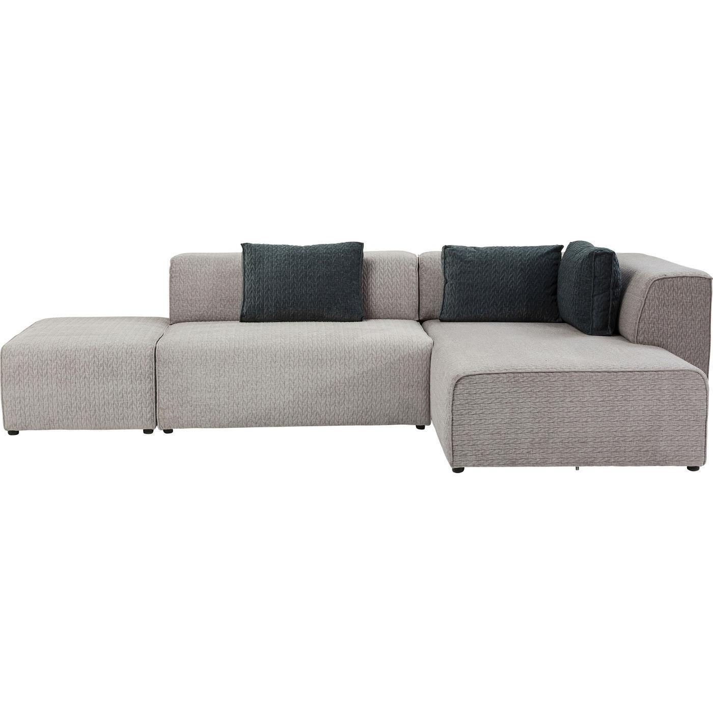 sofa infinity soft ottomane grau rechts. Black Bedroom Furniture Sets. Home Design Ideas
