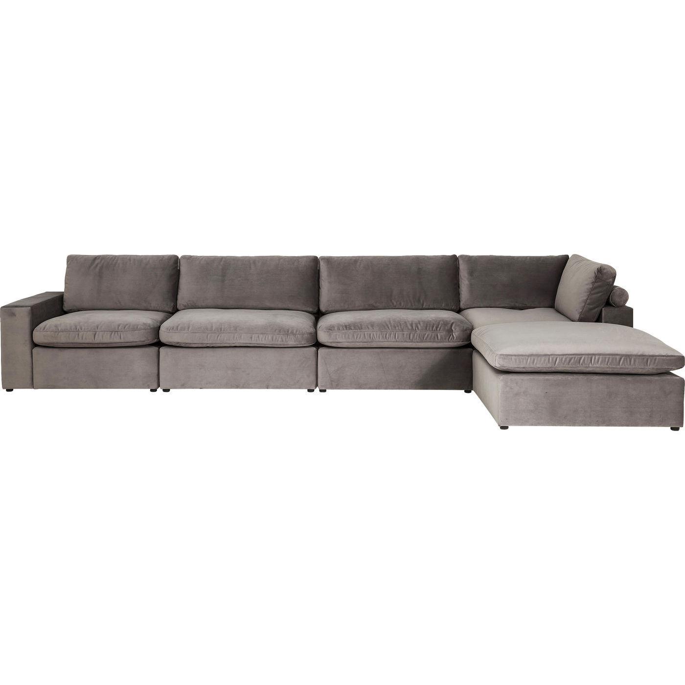 sofa lagos silbergrau m bel24. Black Bedroom Furniture Sets. Home Design Ideas