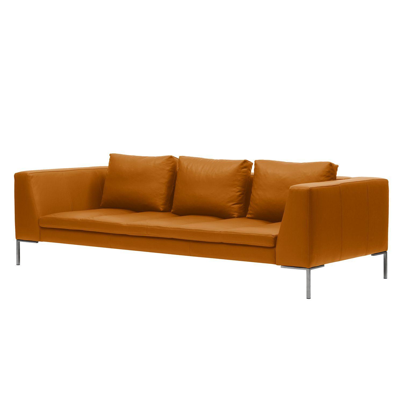 sofa madison 3 sitzer echtleder echtleder neka cognac. Black Bedroom Furniture Sets. Home Design Ideas