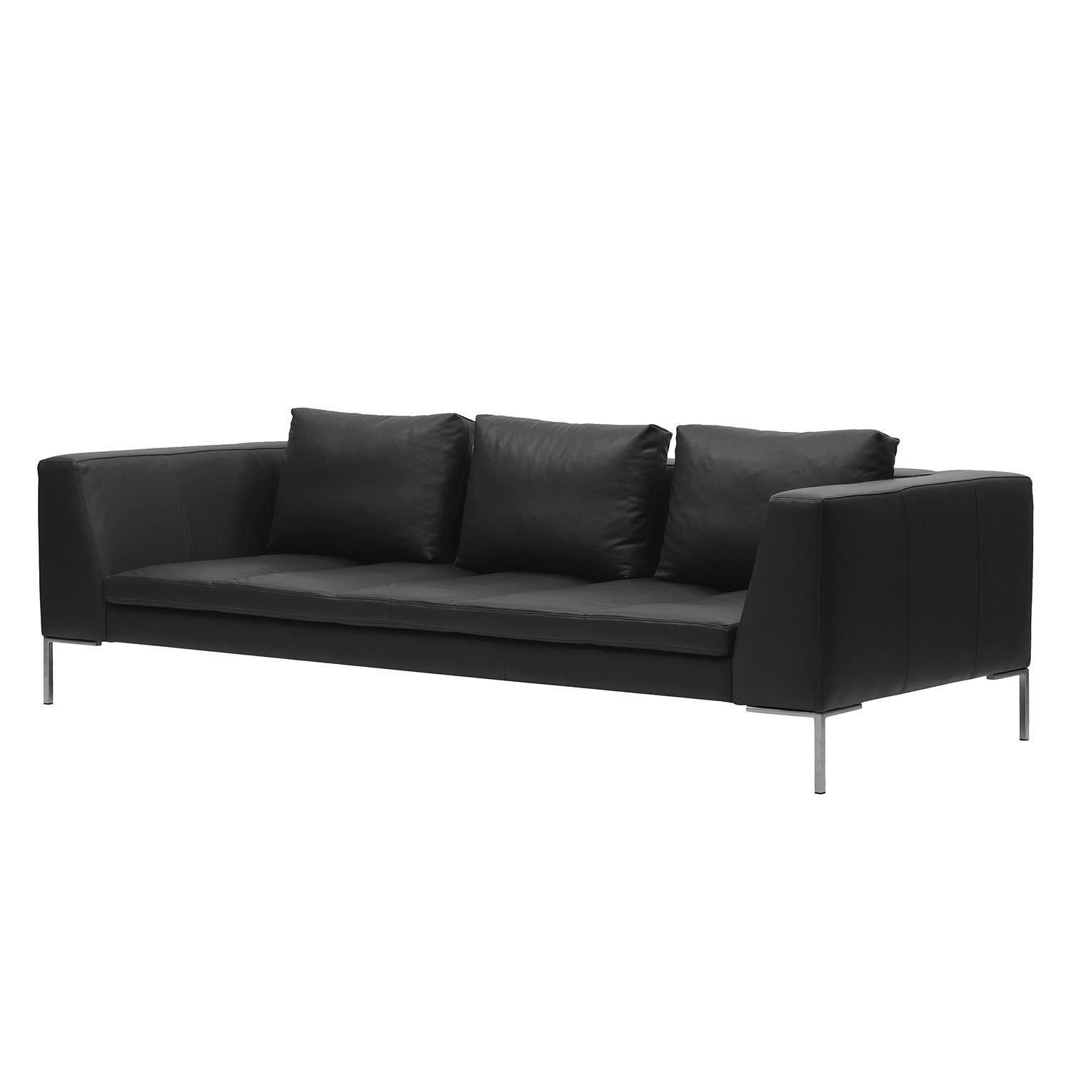 sofa madison 3 sitzer echtleder echtleder neka grau. Black Bedroom Furniture Sets. Home Design Ideas