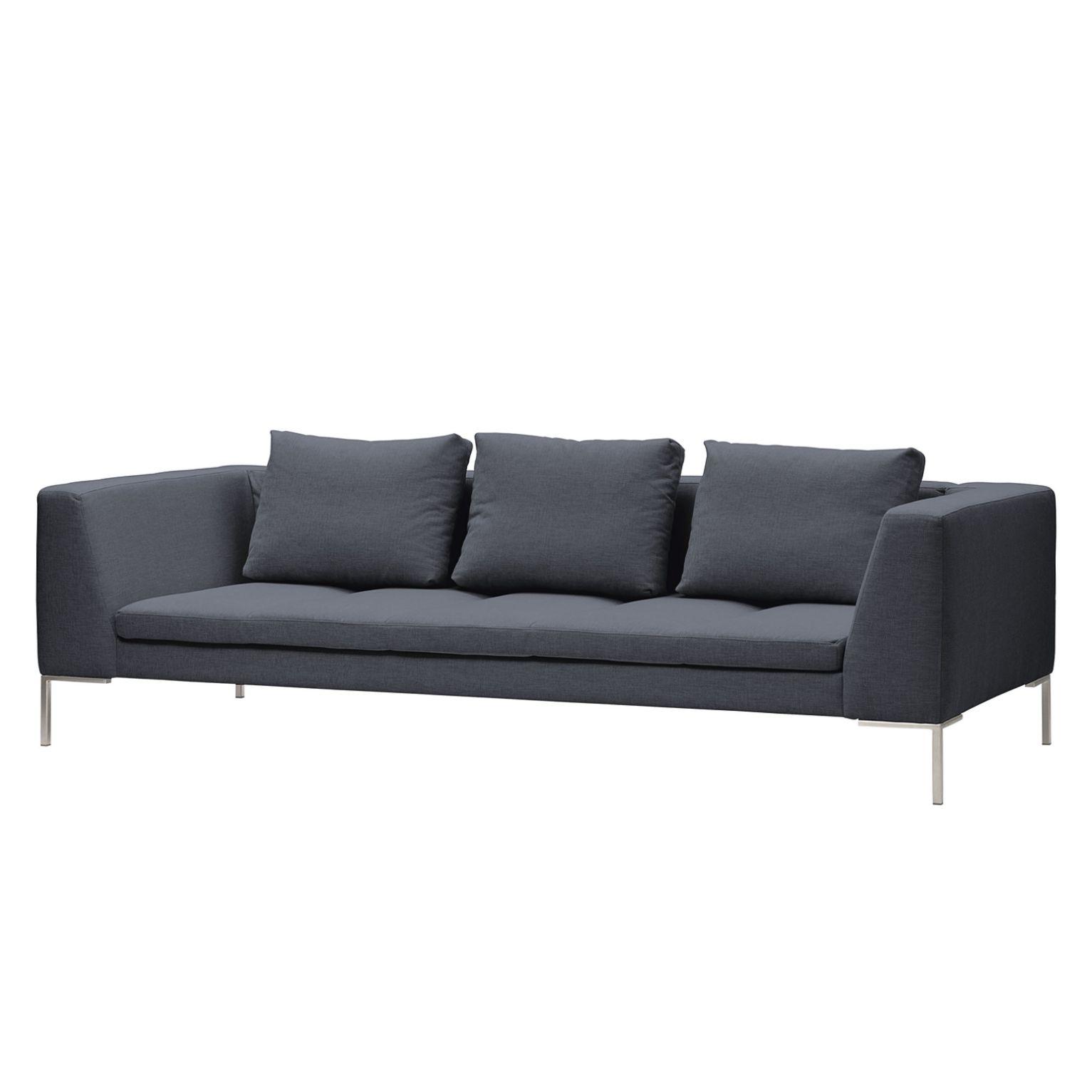 sofa madison 3 sitzer webstoff stoff milan anthrazit. Black Bedroom Furniture Sets. Home Design Ideas