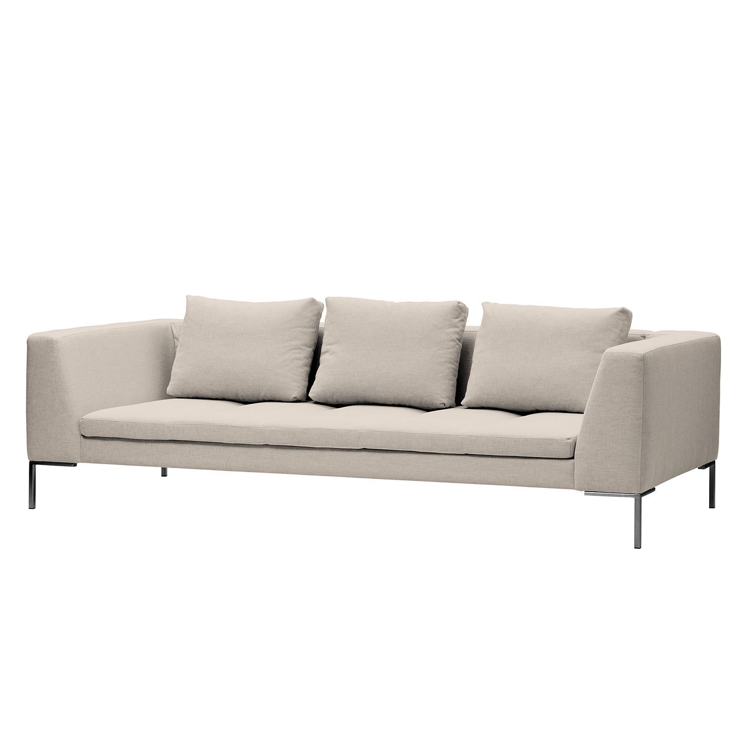 sofa madison 3 sitzer webstoff stoff saia beige. Black Bedroom Furniture Sets. Home Design Ideas