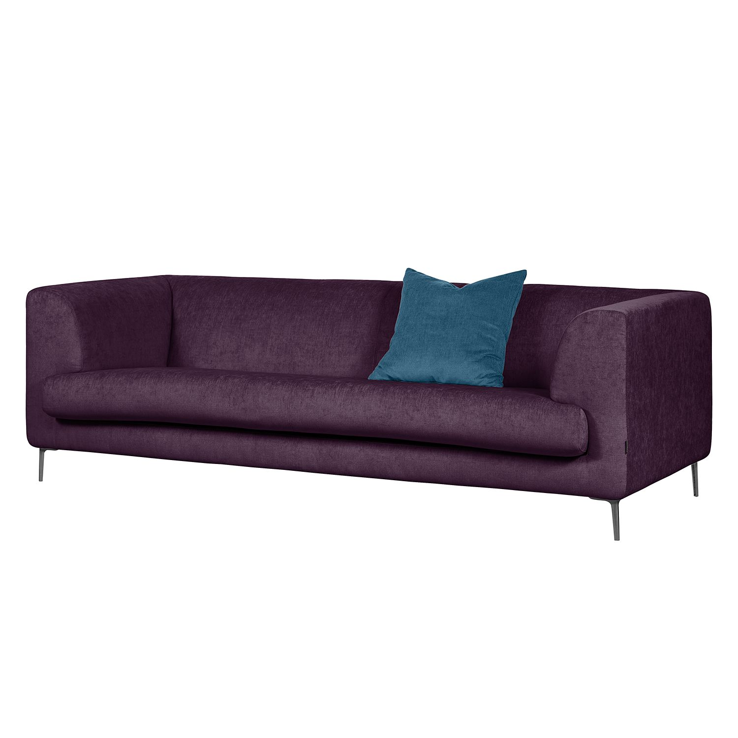 sofa sombret 3 sitzer webstoff aubergine m bel24 online. Black Bedroom Furniture Sets. Home Design Ideas