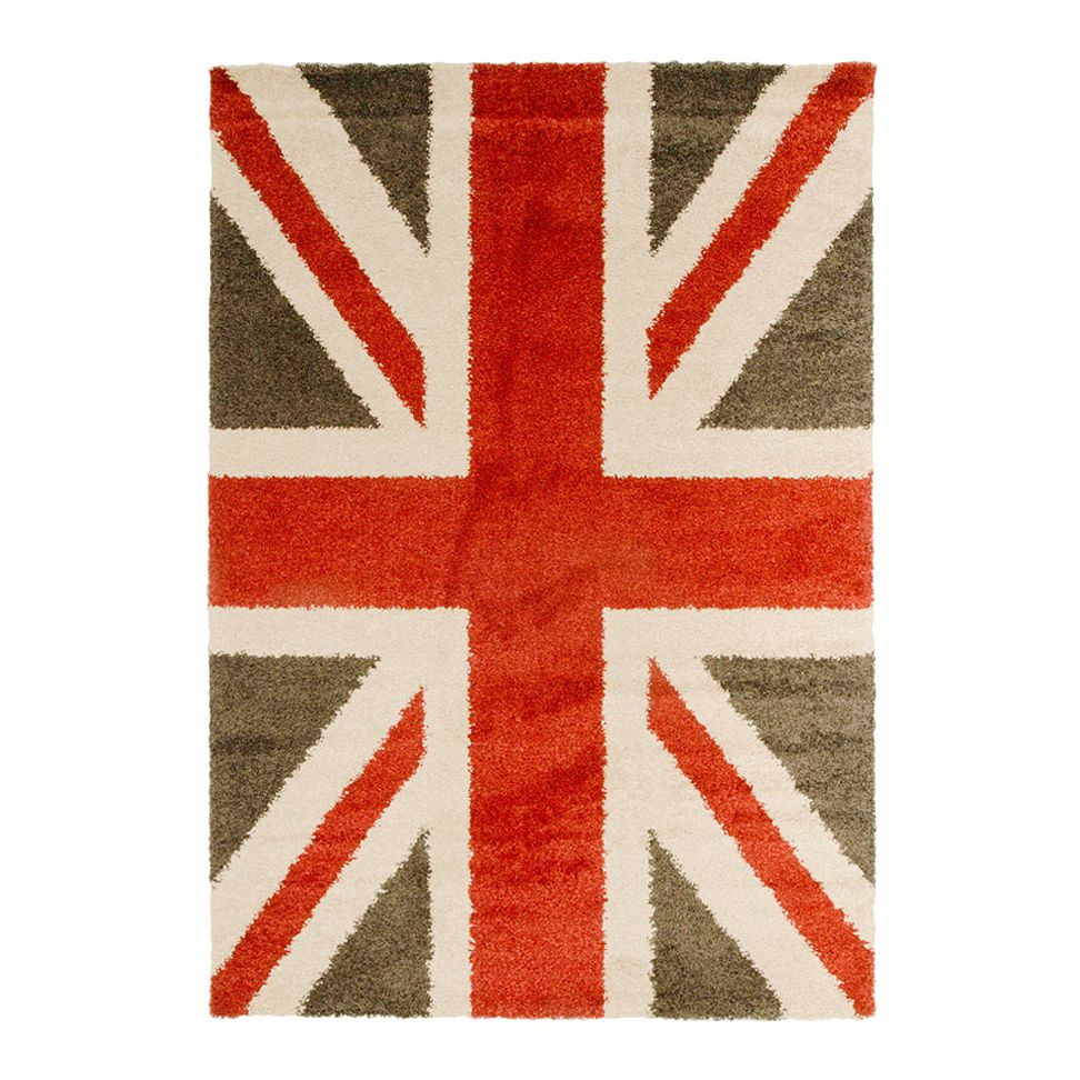 Teppich design union jack rot  cm home