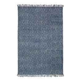 Teppich Dreamy - Baumwollstoff - Blau, Morteens