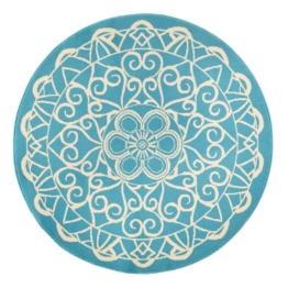 Teppich Mandala - Kunstfaser - Türkis, Zala Living