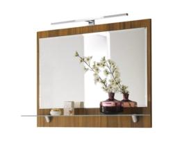 Wandspiegel Badspiegel Kosmetikspiegel LED Lichtspiegel Posseik Rima walnuss Neu