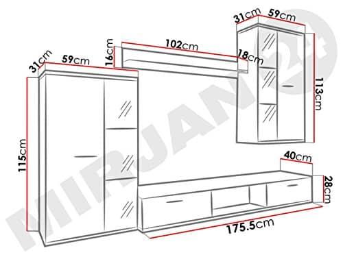 wohnwand salsa design mediawand modernes wohnzimmer set anbauwand h ngeschrank vitrine. Black Bedroom Furniture Sets. Home Design Ideas