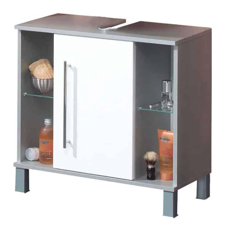 waschbeckenunterschrank ponza wei kesper badm bel. Black Bedroom Furniture Sets. Home Design Ideas