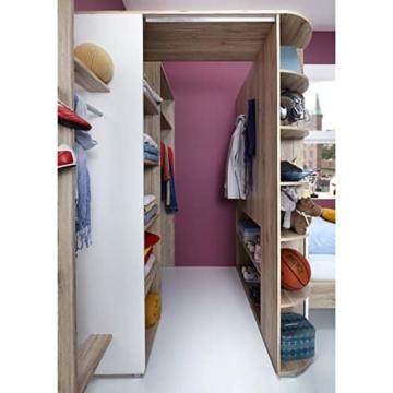 Wimex JOKER Kleiderschrank, Holz, eiche san remo nachbildung / absetzungen, alpinweiß, 148 x 124 x 198 cm -