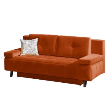 Schlafsofa Loppi Samt - Orange, Fredriks
