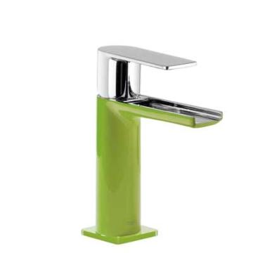 Tres Loft Colors Waschtischarmatur mit Hebelgriff und Kaskade-Auslauf, grün