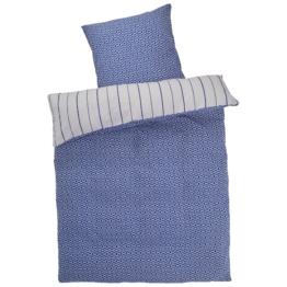 Biber-Bettwäsche Muster-Streifen (135x200)