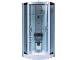 Dampfdusche weiß 90x90cm Modell Lima Duschtempel Duschkabine Dampf Dusche