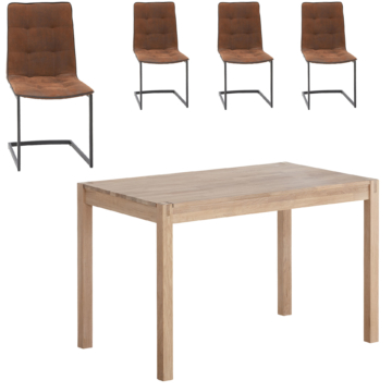Essgruppe Ascona/Sydals (115x70, 4 Stühle)