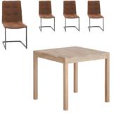 Essgruppe Ascona/Sydals (80x80, 4 Stühle)