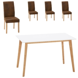 Essgruppe Blokhus/Tureby (70x120, 4 Stühle, braun)