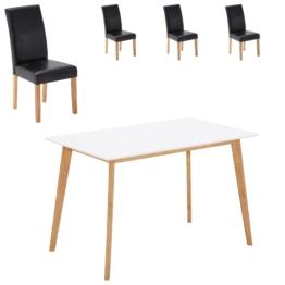 Essgruppe Blokhus/Tureby (70x120, 4 Stühle, schwarz)