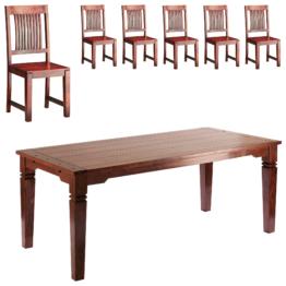 Essgruppe Cuba (90x178, 6 Stühle)