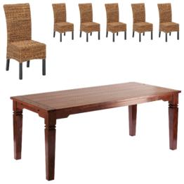 Essgruppe Cuba/Rio (90x178, 6 Stühle)