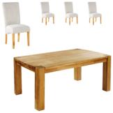 Essgruppe Goliath/Tom (100x160, 4 Stühle, beige)