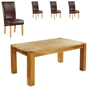 Essgruppe Goliath/Tom (100x160, 4 Stühle, braun)
