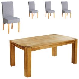 Essgruppe Goliath/Tom (100x160, 4 Stühle, grau)