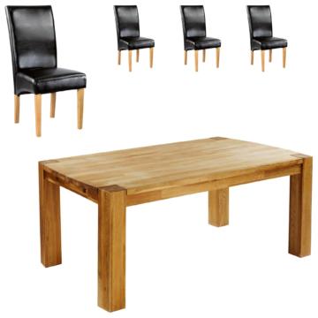 Essgruppe Goliath/Tom (100x160, 4 Stühle, schwarz)