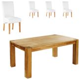 Essgruppe Goliath/Tom (100x160, 4 Stühle, weiß)