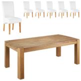 Essgruppe Goliath/Tom (100x200, 6 Stühle, weiß)