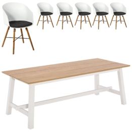 Essgruppe Holsted/Hvam (220x95, 6 Stühle)